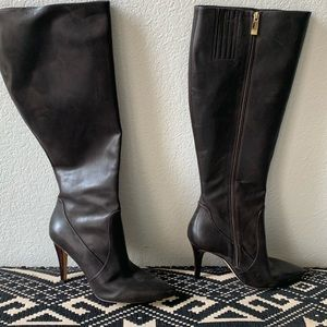 Via Spiga knee high pointed leather boots 10 1/2